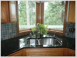 kitchen sink backsplash furniture contemporary kitchen with black countertop also grey