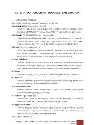 contoh membuat proposal riset sistematika penulisan proposal dan laporan tugas akhir