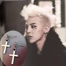 earrings men fashion korean women s men s hoop cross drop dangle ear studs