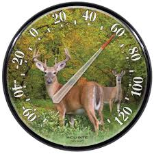 home interior deer pictures acurite 12 5 in deer analog thermometer 01737a2 the home depot