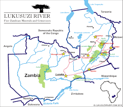 Map Of Zambia Gem Mines