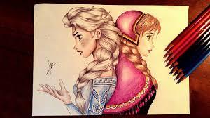 frozen drawing elsa anna
