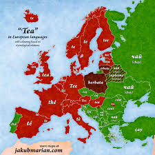 how do you say map in 42tea how do you say tea in other european languages