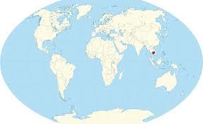 France On Map Cambodia Inside World Map World Map Cambodia Spainforum Me