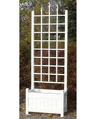 dura trel 5 foot white rectangle vinyl camelot planter box with