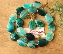 green agate necklace images Bottle green agate gemstone handmade silver necklace earring at jpg