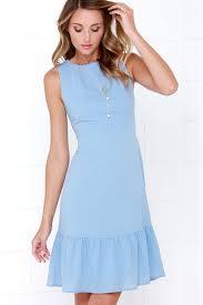 Light Blue Dress Midi Dress Sleeveless Dress 48 00