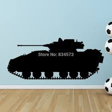 compare prices on tank wall mural online shopping buy low price hot army tank motor road silhouette wall art stickers decal home diy decoration wall mural removable