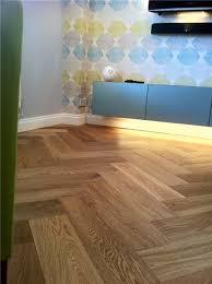 Natura Oak Matt Lacquer Herringbone Engineered Parquet - Herringbone engineered wood flooring