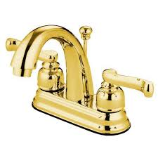 Polished Brass Bathtub Faucets Centerset Bathroom Faucets Bellacor