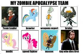 Zombie Team Meme - 1113415 don t hug me i m scared fluttershy ludwig van