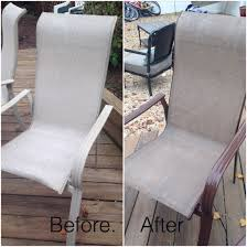 Patio Chair Webbing Material Old Patio Furniture No Problem Spray Paint Fabric