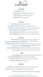 brunch wedding menu check out the new brunch menu at cultivar in boston
