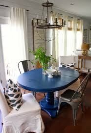 Navy Blue Dining Table - Navy and white dining room