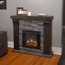 Real Fire Fireplace by Real Flame Avondale 48 Inch Electric Fireplace With Mantel Gray