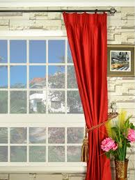 oasis solid color double pinch pleat dupioni curtains