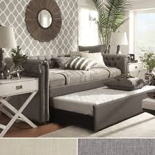 modern daybed modern daybeds with pop up trundle and nightstands daybeds