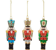 nutcracker ornaments david dangle home collection s 3 handpainted nutcracker ornaments