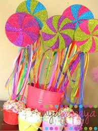 lollipop party favors candyland lollipop wandsset of six magical by myapapayaboutique