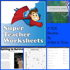 review super teacher worksheets a net in time schooling