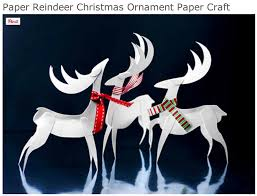 christmas crafts paper reindeer crafty crafted archive crafts