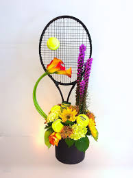 florist naples fl tennis themed birthday flower arrangement designed by steven