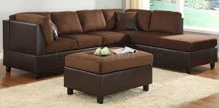 9909ch comfort sectional sofa in chocolate microfiber by homelegance