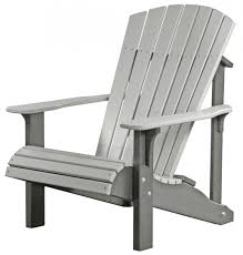 shop polywood kids slate grey plastic adirondack chair at lowes