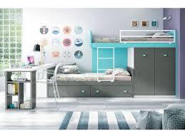 bureau superposé lit superposé avec bureau pour la chambre enfant glicerio lit