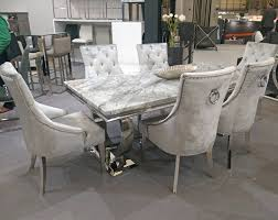 grey marble dining table arianna 200cm grey marble chrome o dining table 6 belle pewter