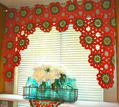 Homemade Flowers Bright And Beautiful Homemade Crochet Flower Curtain
