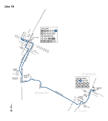 Oakland Bart Map by 19 Bus Route Ac Transit Sf Bay Transit