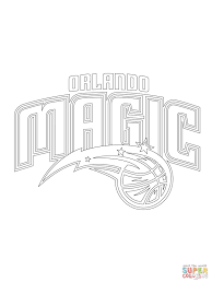 orlando magic logo coloring free printable coloring pages
