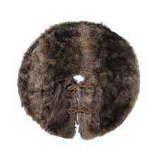 faux fur tree skirt smith 22 faux fur tree skirt brown shop your way