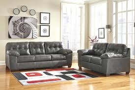 ashley furniture magician gray leather reclining sofa grey tufted