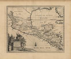 Old Mexico Map by Nova Hispania Nova Galicia Guatimala Map Of Mexico And Central