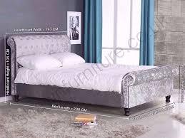single double king bed new crushed velvet sleigh designer bed
