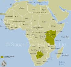 africa map map of africa africa tourist map