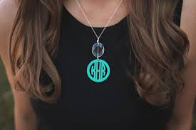 monogram necklace pendant personalized drop pendant monogram necklace gifts happen here