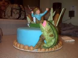 fisherman cake topper fishing cakes decoration ideas birthday cakes