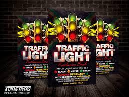 traffic light flyer template by matteo gianfreda dribbble