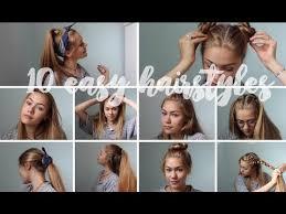 Heatless Hairstyles For Thin Hair | 10 easy heatless hairstyles for medium to long hair youtube