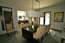 brilliant lights over dining room table with pendant light for