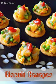 simple vegetarian canapes biscuit canapes with vegetable topping recipes
