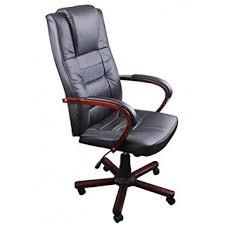 fauteuil de bureau en bois pivotant fauteuil de bureau pivotant avec appui tête rembourré noir croûte de