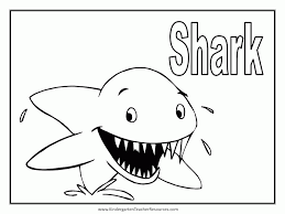 free sharkcoloring pages coloring