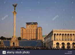 place of the independence may dan nezalezhnosti ukraine stock