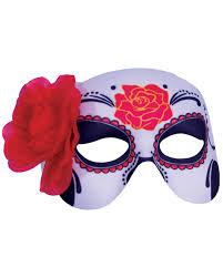 sugar skull with rose eye mask for halloween horror shop com