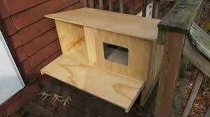 Outdoor Cat House Plans Modern Diy Tree Feral Building