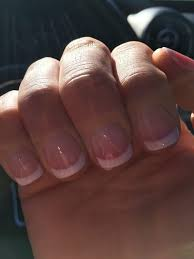 sns nails french tip my real nails no acrylic or nail tips yelp